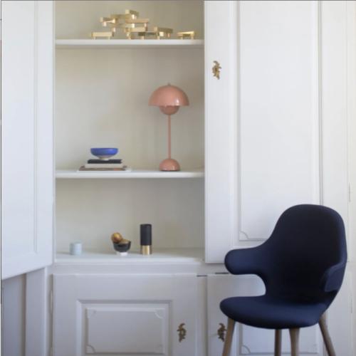 ou trouver lampe bureau design luminaire rose rétro