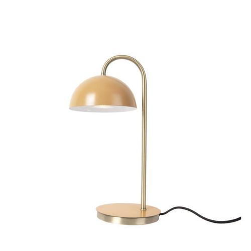 ou trouver lampe de bureau deco Lampe à poser champignon en métal couleur ocre