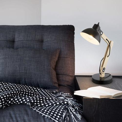 ou trouver lampe de bureau pas cher Lampe de bureau en bois noir