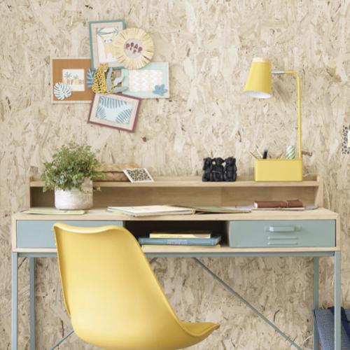 ou trouver lampe de bureau pas cher lampe de bureau avec porte-crayons compartiments en métal jaune et hévéa