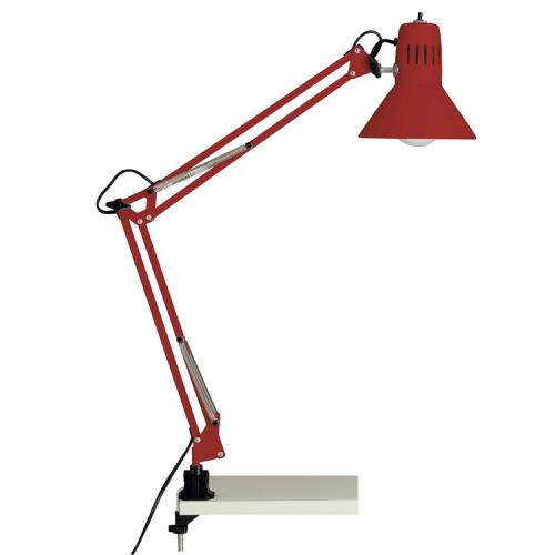 ou trouver lampe de bureau pas cher Lampe de bureau en métal rouge style architecte industriel