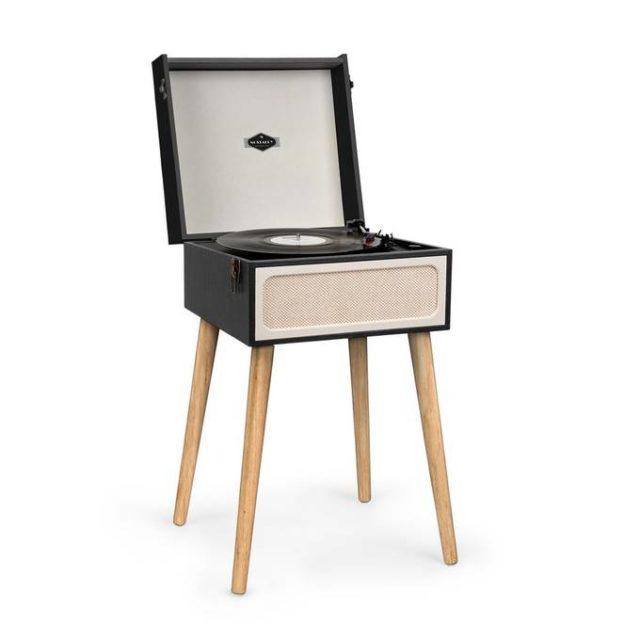 ou trouver platine vinyle sur pied style scandinave moderne
