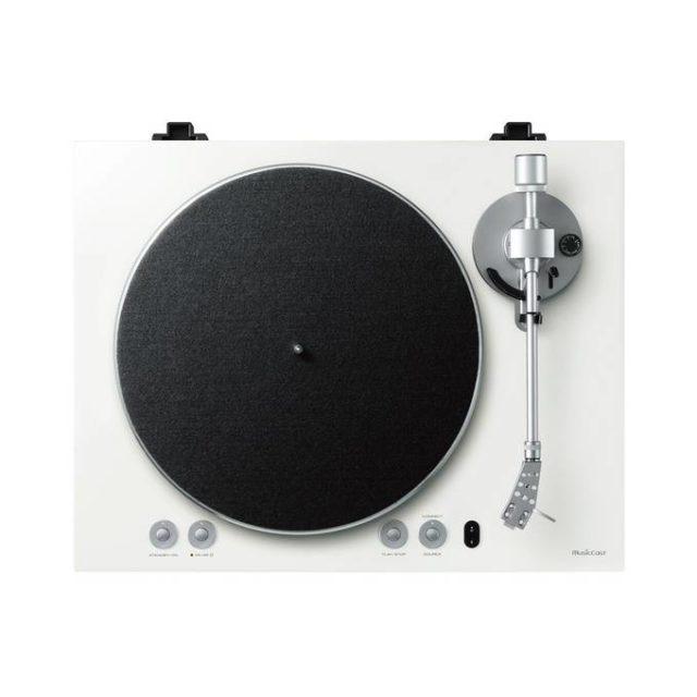 ou trouver platine vinyle moderne épurée blanche design