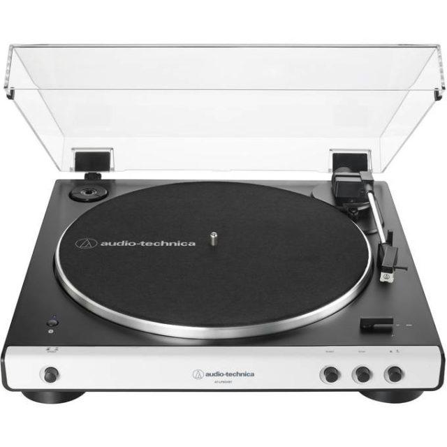 ou trouver platine vinyle noir et blanche design épuré