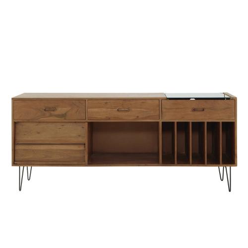 ou trouver rangement vinyles meuble hifi enfilade rétro vintage