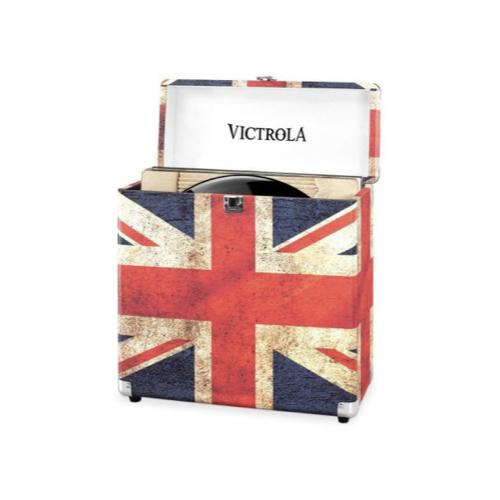 ou trouver rangement vinyles caisse de stockage drapeau anglais
