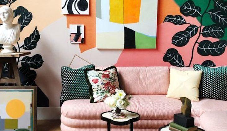 petit logement multicolore exemple idée décoration accessoire meuble décor mural