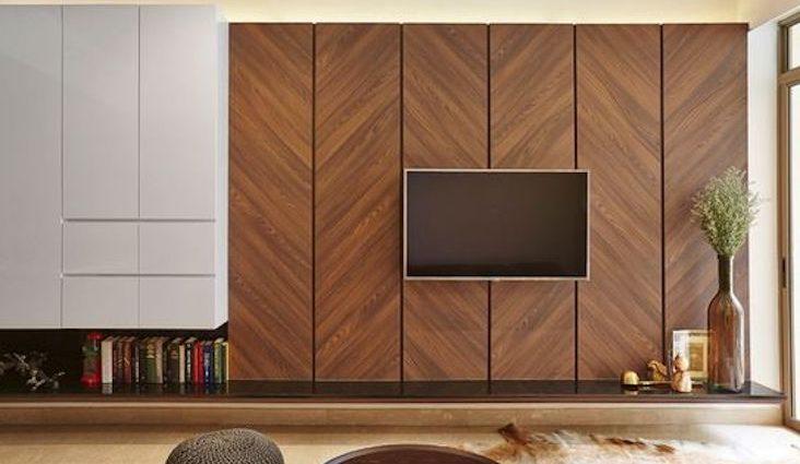 revetement mural solution bois exemple idées décoration moderne intérieure lambris bardage tasseaux