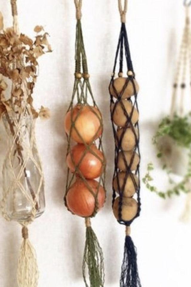 marcrame cuisine fruit et legumes filet en longueur oignon à suspendre