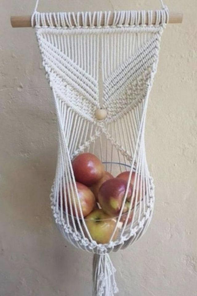 marcrame cuisine fruit et legumes corbeille à fruit à suspendre