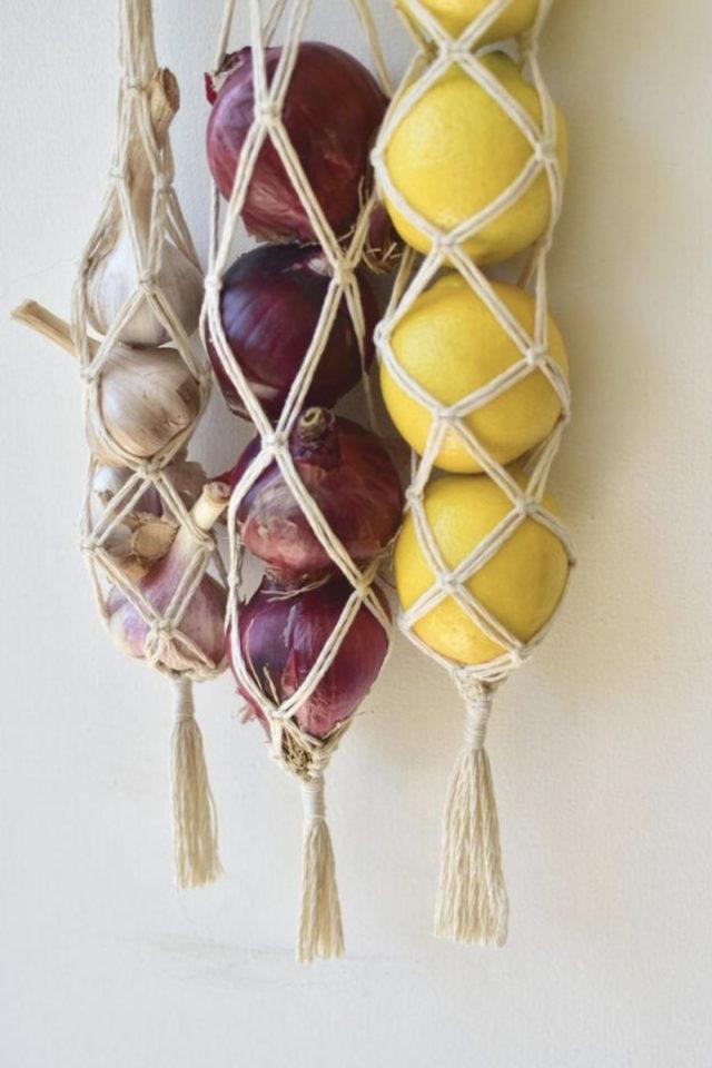 marcrame cuisine fruit et legumes idée DIY à faire soi même pratique et déco