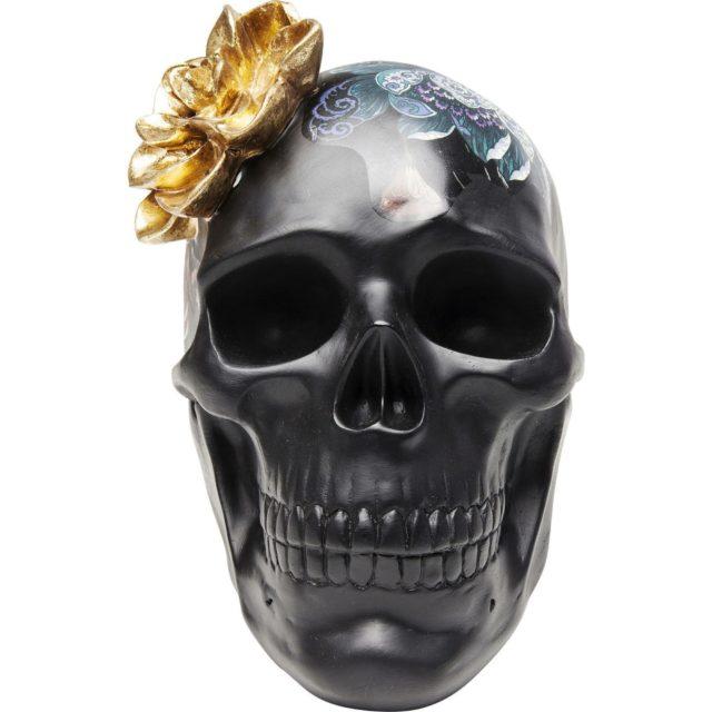 deco rock idee shopping statuette déco crâne noir