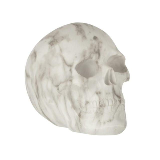deco rock idee shopping statuette crâne tête de mort effet marbre
