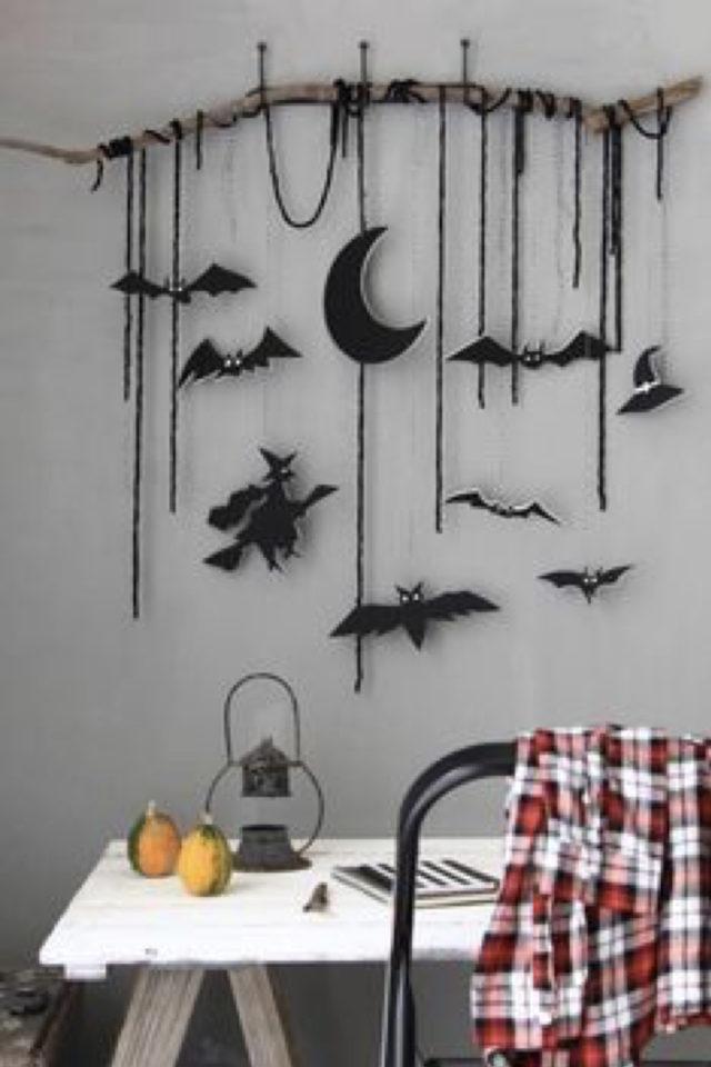 halloween exemple deco diy décor mural facile à faire