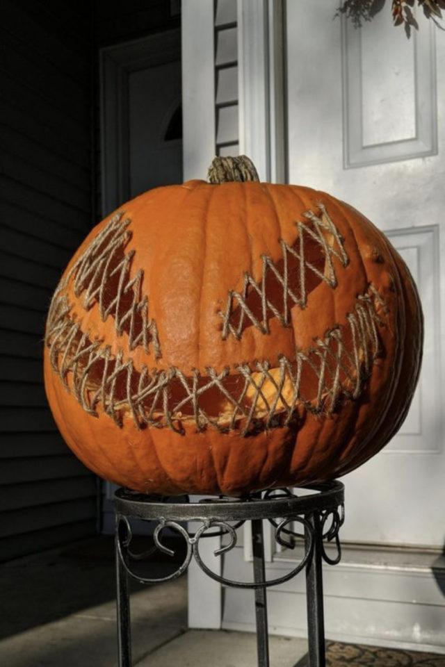 halloween exemple deco diy citrouille effrayante