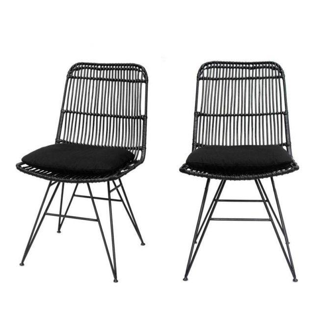 ou trouver deco rock chaise tressée noir moderne