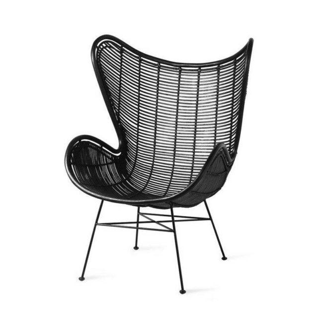 ou trouver deco rock fauteuil noir piètement métal