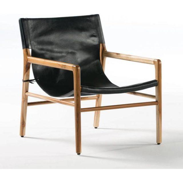 ou trouver deco rock fauteuil élégant noir et bois tendance
