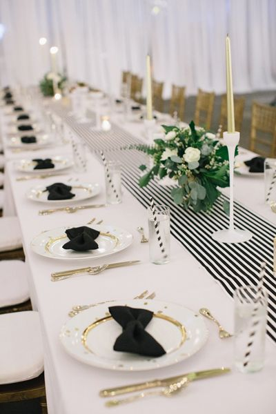 black and white table decorations for weddings inspiration mariage de printemps en noir et blanc 1817