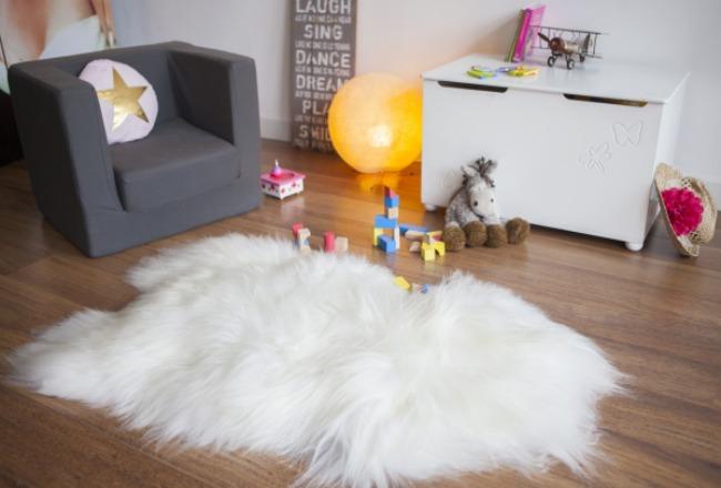 maison thuret peau de mouton islandais blanc
