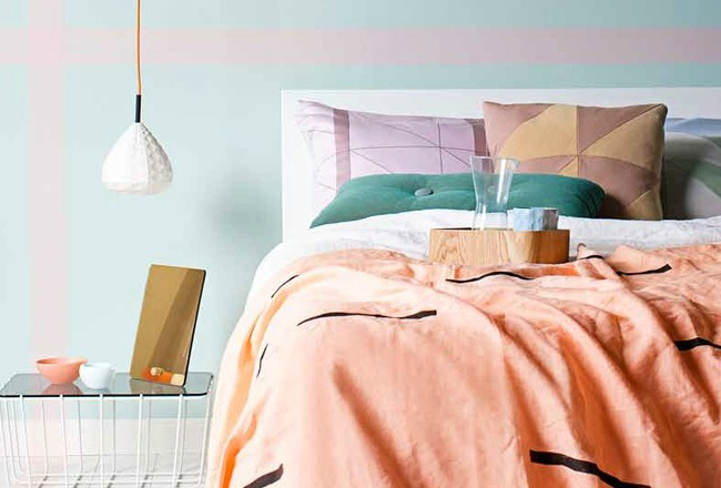 couleur corail et chambre a coucher