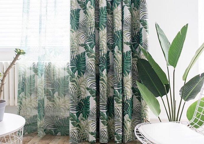 idee decoration rideaux motifs