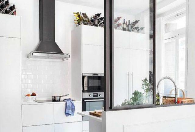 une verri re dans la cuisine cocon de d coration le blog. Black Bedroom Furniture Sets. Home Design Ideas