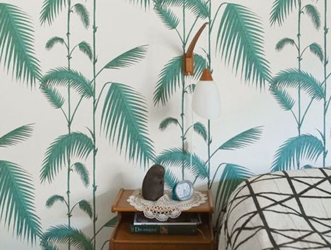 decoration idee inspiration vert chambre a coucher