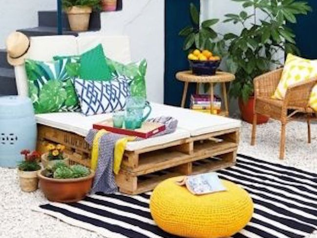 idee jardin recup pas cher mobilier