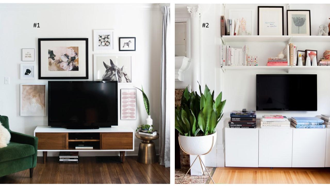 Idee Tv Au Mur une jolie déco autour de la télévision   cocon - déco & vie