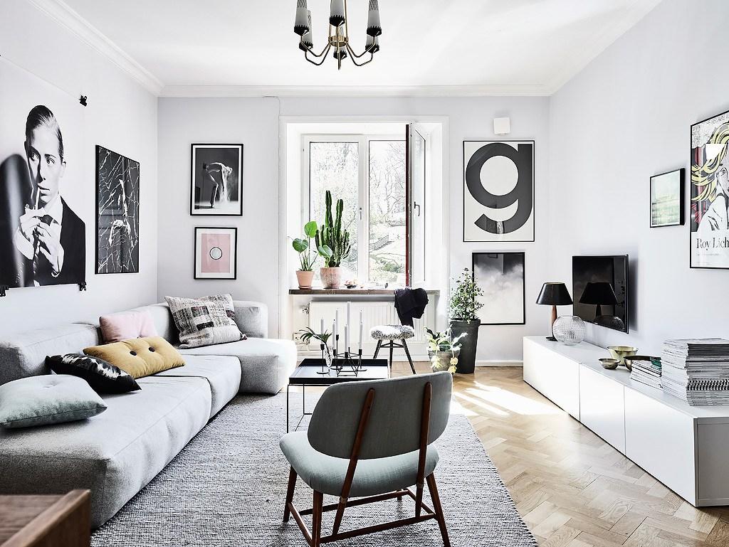 Deco Salon Mur Blanc une jolie déco autour de la télévision | cocon - déco & vie