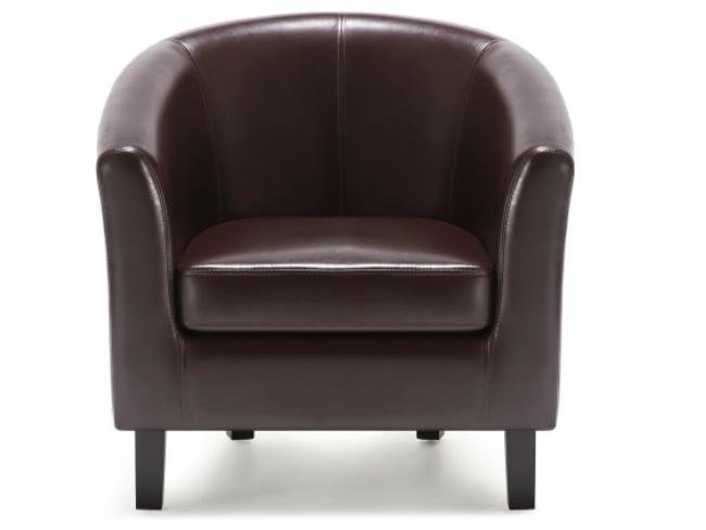 deco fauteuil intemporel simili cuir