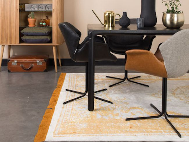 fauteuil nikki cuir et tissu deco