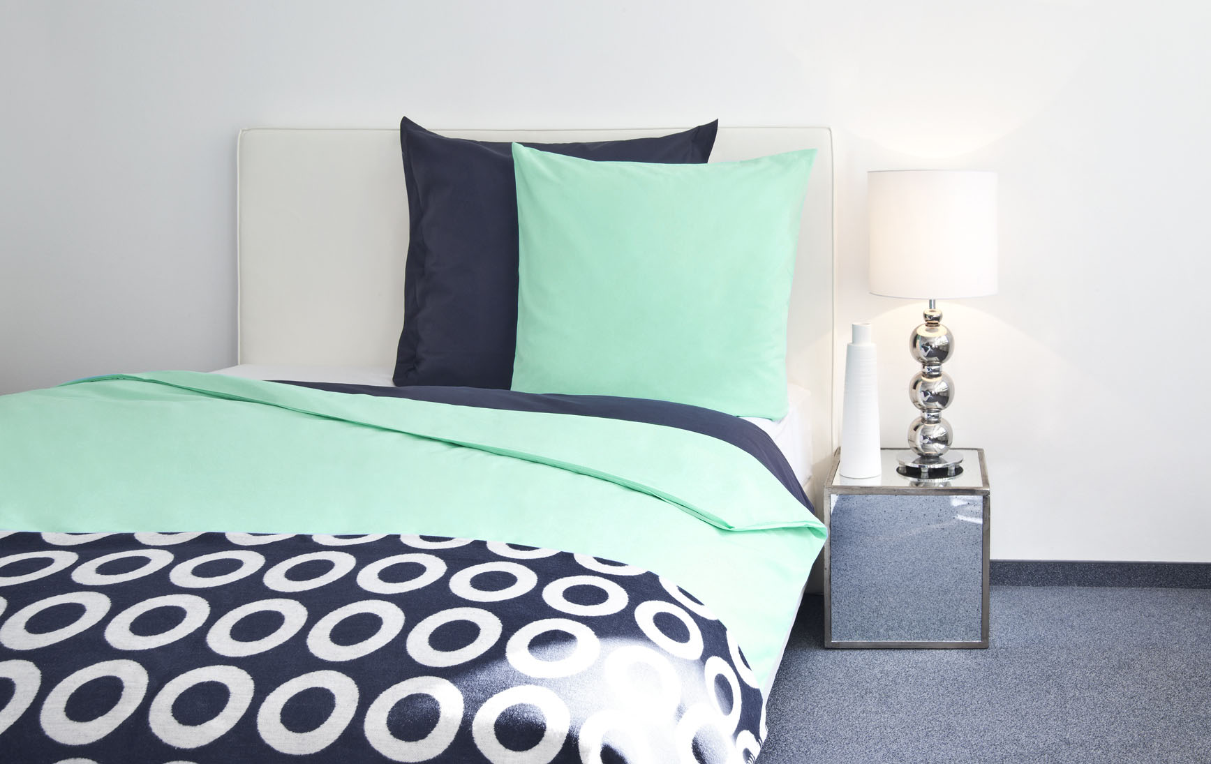 decoration chambre vert bleu blanc