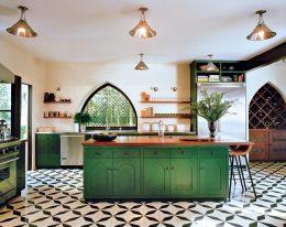 cuisine deco ilot vert idee decoration