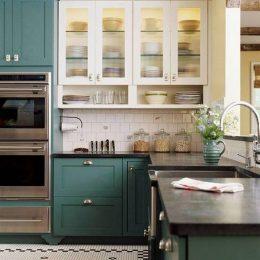 cuisine deco vert tendance couleur