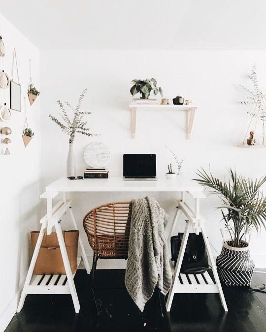 bureau maison deco blanc