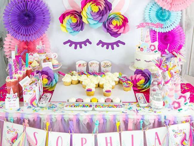 idee deco anniversaire licorne