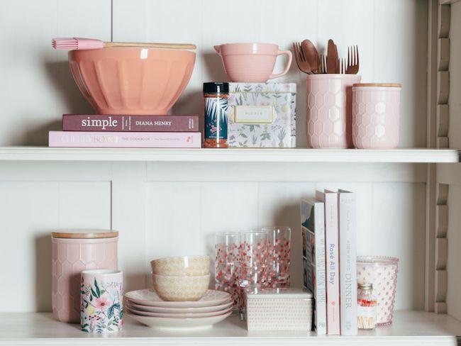 idee decoration cuisine couleur rose