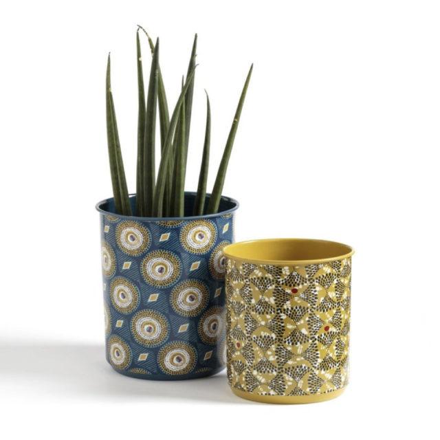 cache pot plante verte bureau decoration 14
