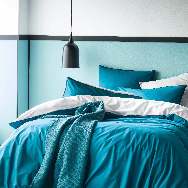 Tete De Lit Bleu Canard Peinture couleur] du bleu dans la chambre | cocon - déco & vie nomade