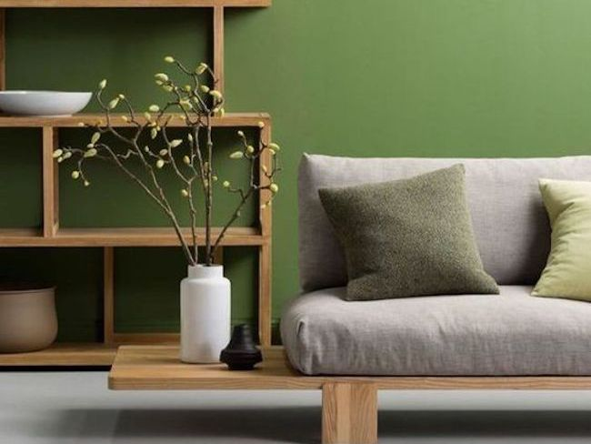 inspiration idee deco salon vert