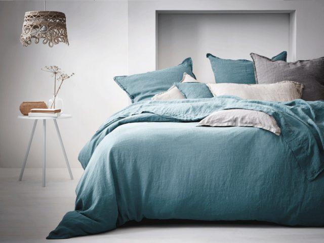 linge de lit deco bleu