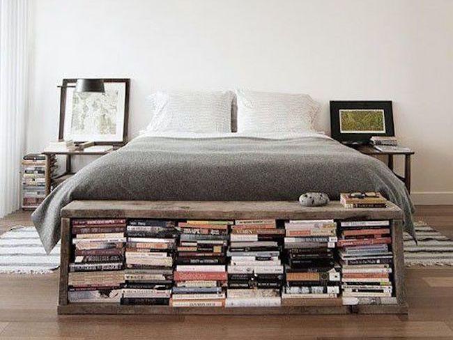 rangement livre petit appartement