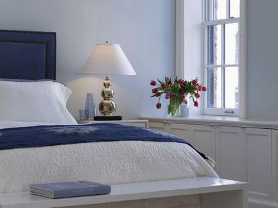 tete de lit bleue deco