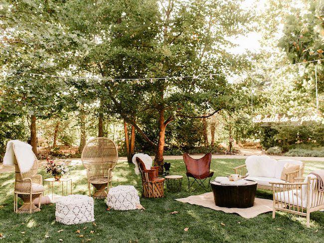 jardin boheme moderne mobilier vintage