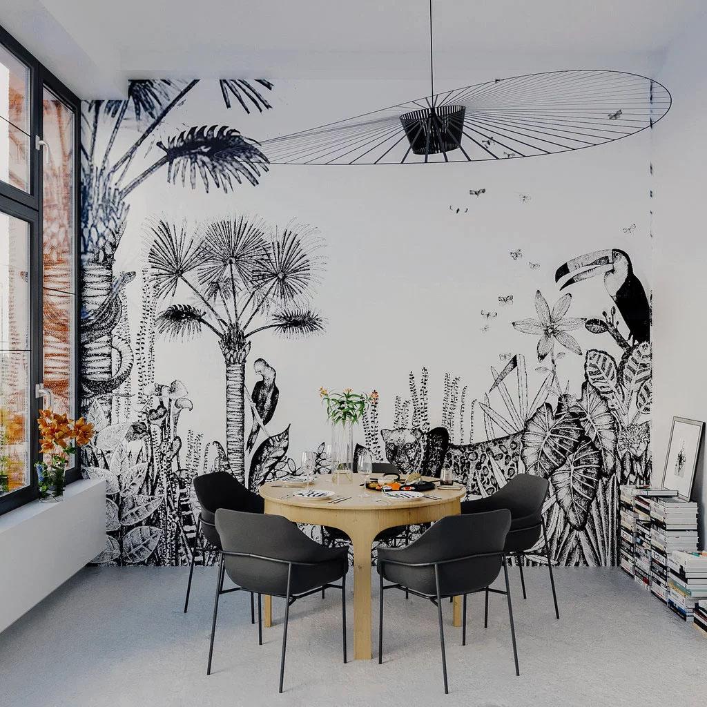 Salle A Manger Gris Blanc Noir couleur] du noir dans la salle à manger | cocon - déco & vie
