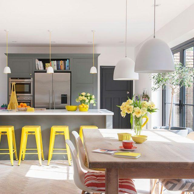accessoires decoration cuisine jaune