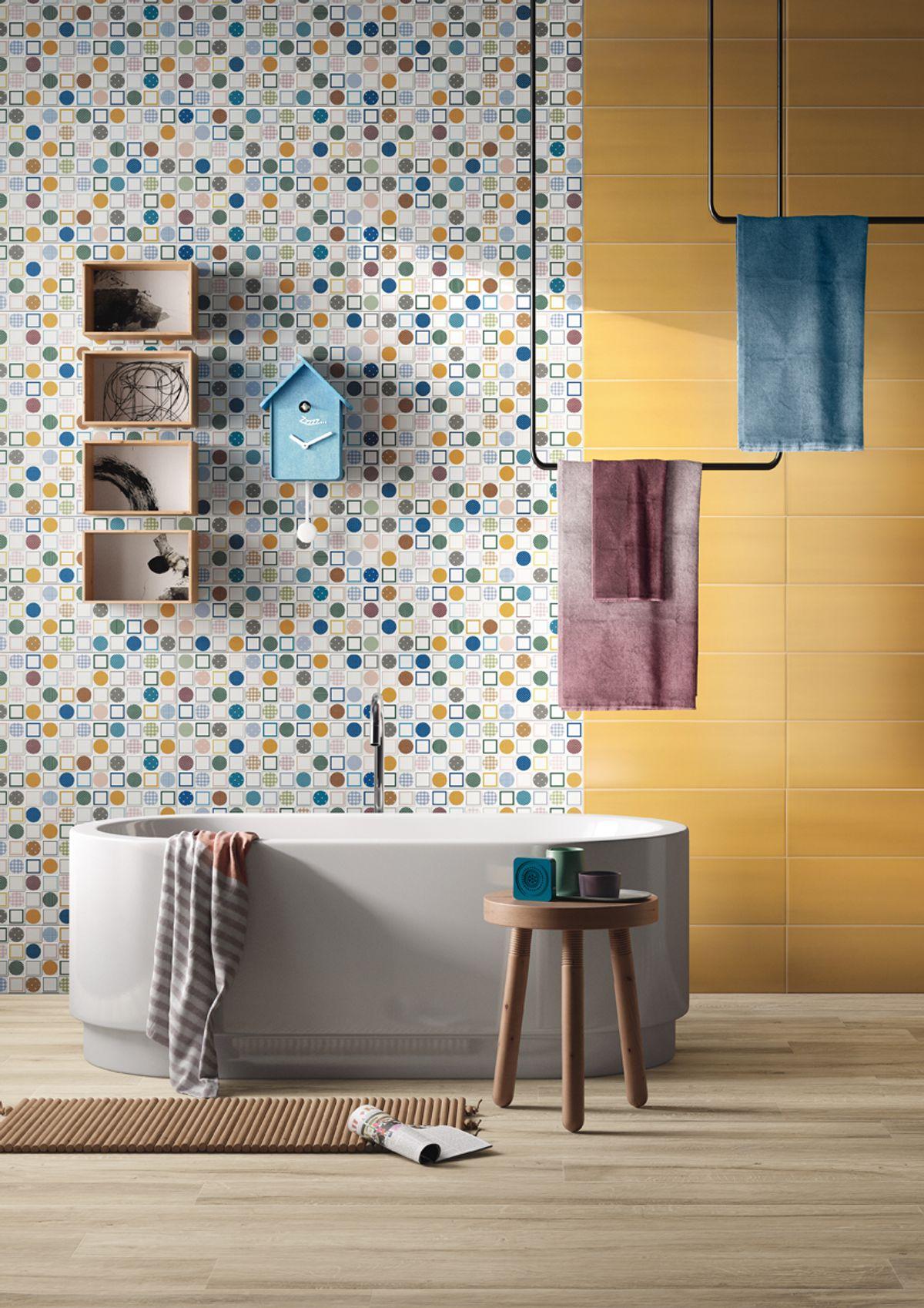 carrelage original motif salle de bain