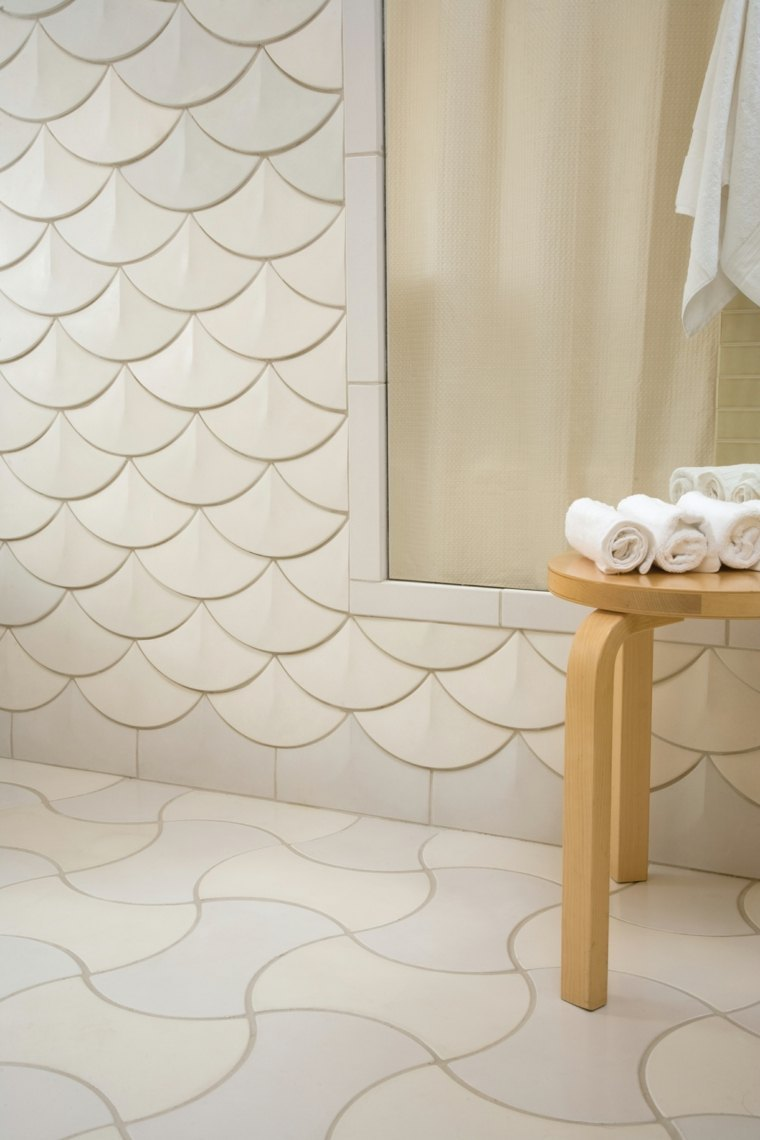 carrelage original salle de bain 3d ecaille